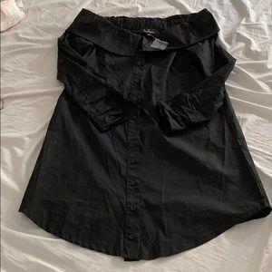 Lulu's Dresses - Lulus Black off the shoulder T-shirt dress